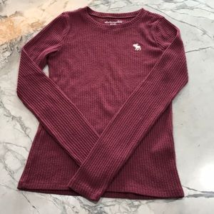 Abercrombie Kids Long Sleeve Ribbed Top